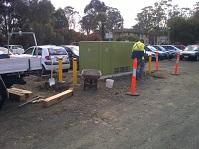 Bollard Installation around electrical substation