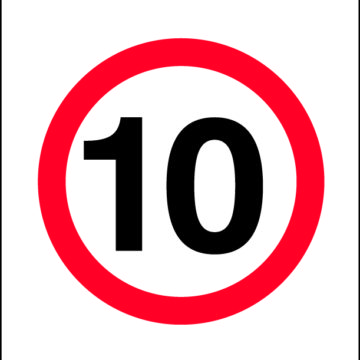 10km/h Sign