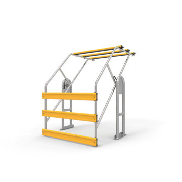 Mezzanine Roll Over Gate