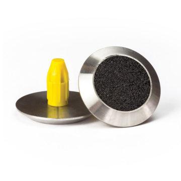 BTW102-CB 316 Stainless Steel Black Carborundum Infill Round Tactile