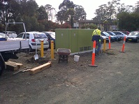 Bollard Installation around electrical substation
