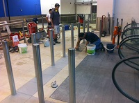 Stainless Steel Bollard Installation