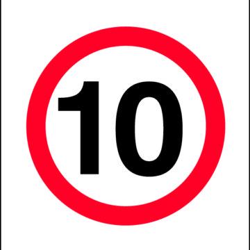 10km/h Sign - Non Reflective