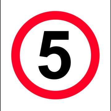 5km/h Sign