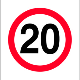 20km/h Sign