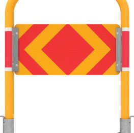 Bicycle Path Holding Rails Target Boards