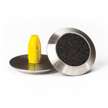 BTW102-CB 316 Stainless Steel Black Carborundum Infill Round Tactile